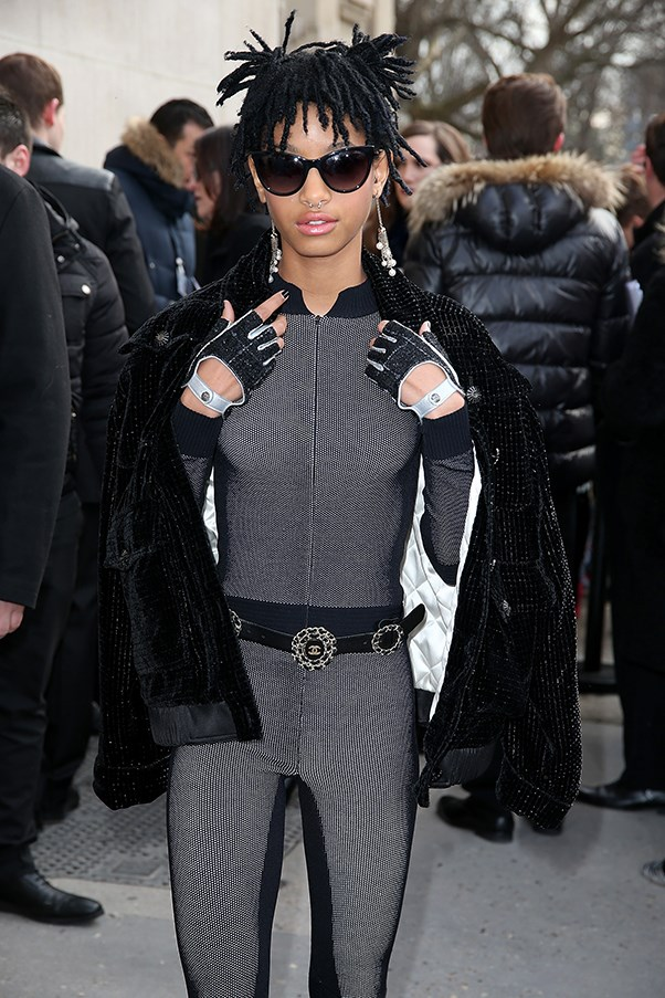 Willow Smith at the AW16 Chanel fashion show.