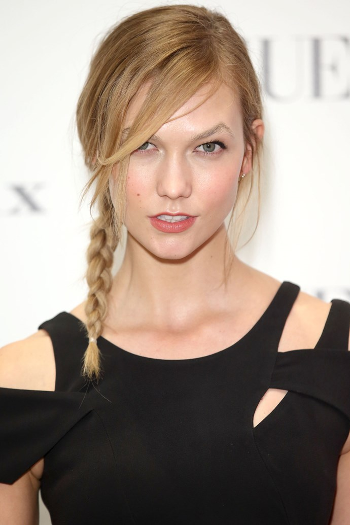 A pretty plait just last month at an event in London.