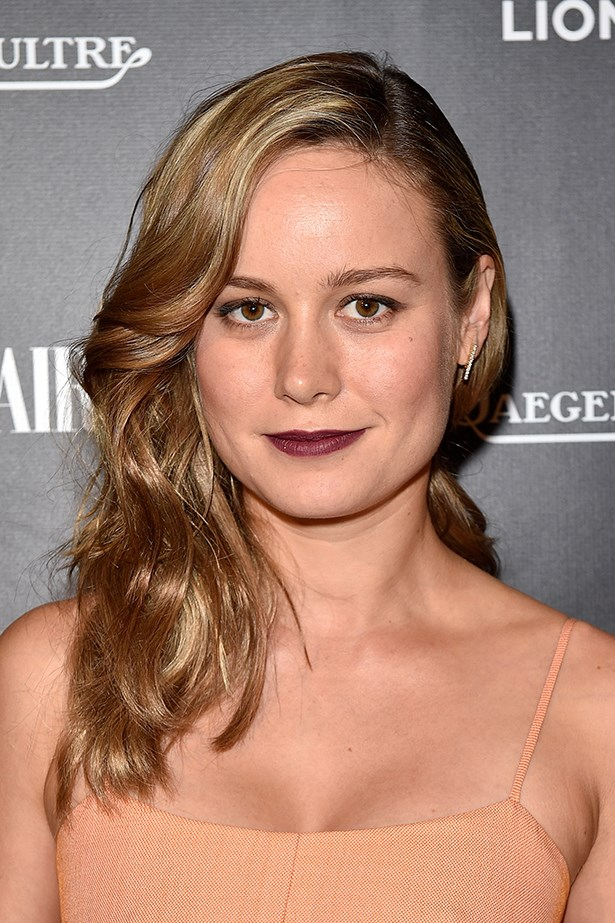 2015, Larson shows off her sultry side with side swept waves and a burgundy lip at the <strong>Toronto International Film Festival</strong>.