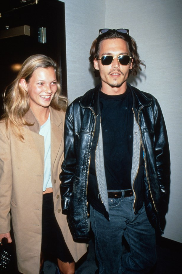 JOHNNY DEPP AND KATE MOSS<P> <P> Is there anything that embodies the 90s more than a supermodel on the rise and her bad boy boyfriend? Probably not. Johnny and Kate may not have lasted past the 90s but their iconic shot of them cuddling naked on the bed did.