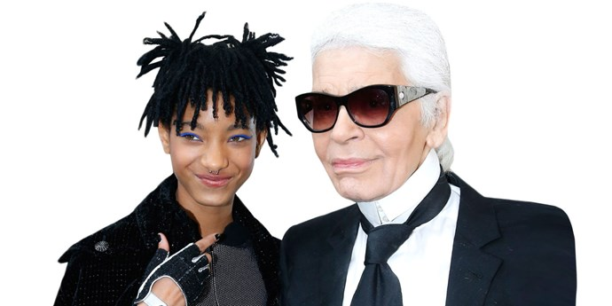Willow Smith and Karl Lagerfeld.
