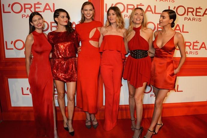 Bianca Balti, Isabeli Fontana, Karlie Kloss, Doutzen Kroes, Natasha Poly and Irina Shayk