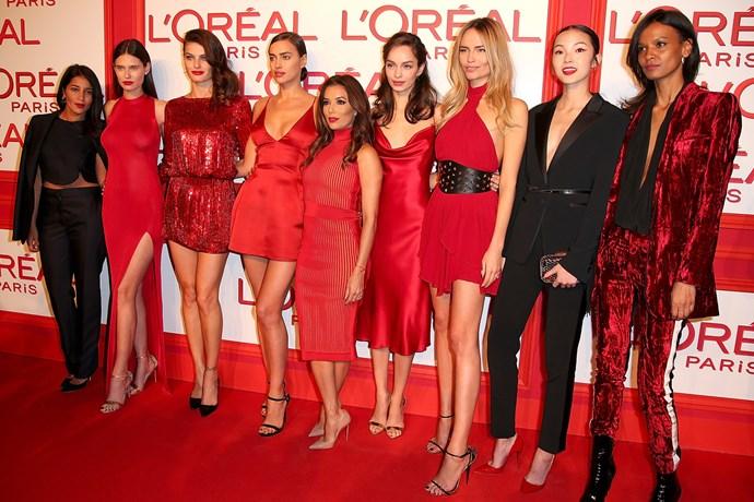 Leila Bekhti, Bianca Balti, Isabeli Fontana, Irina Shayk, Eva Longoria, Luma Grothe, Natasha Poly, Xiao Wen Ju and Liya Kebede