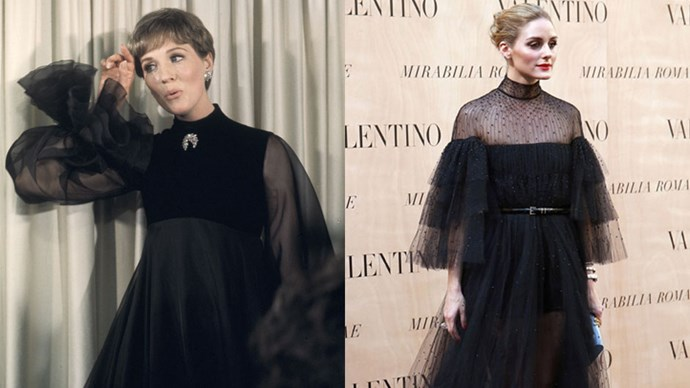 <strong>Juile Andrews in 1968 and Olivia Palermo in 2015</strong> <br><br> Olivia Palermo's choice to channel Hollywood legend Julie Andrews paid big style dividends.
