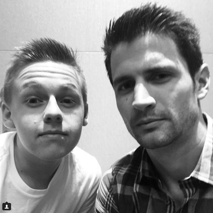 Son and father Jamie and Nathan (Jackson Brundage and James Lafferty) reunite.