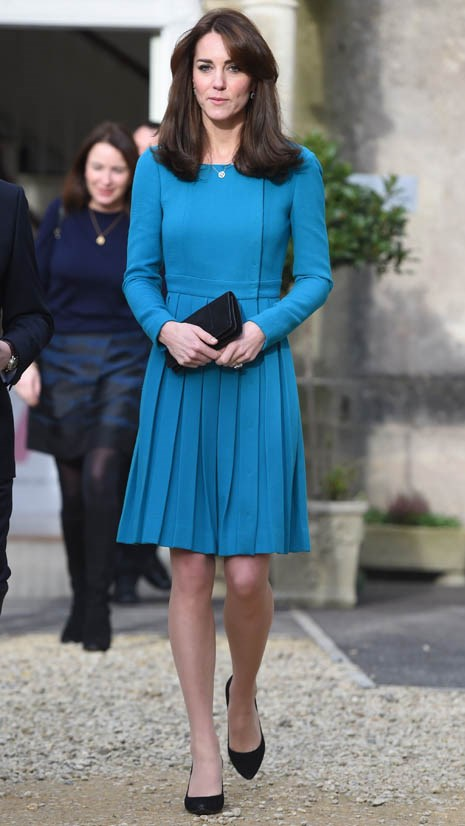 Wearing Emilia Wickstead in December 2015.