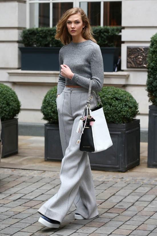 Karlie Kloss street style.