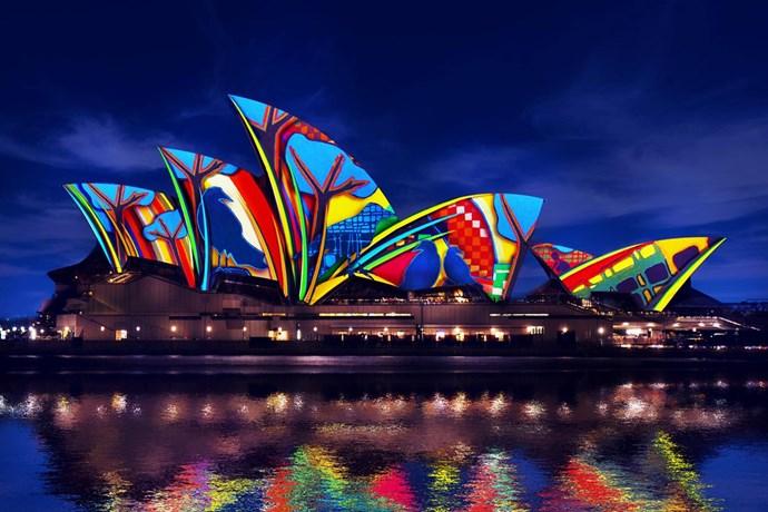 vivid festival sydney opera house light up sails