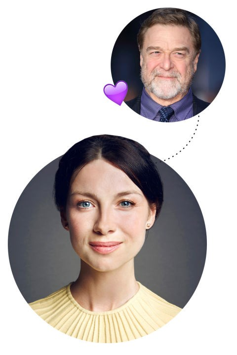 """<p> Caitriona Balfe <3s John Freakin' Goodman<p> <p> """"I loved that show Roseanne. It was one of my big things. And I had a weird crush on John Goodman. I don't know what that says about me, but he was a big one for me. I was eight or nine. It was very odd."""""""