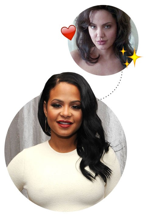 """<p> Christina Milian <3s Gia Angelina Jolie <p> """"Angelina Jolie. When I saw her in Gia I was blown away. And the same thing with Jennifer Lopez when she was in Selena. She did such a fantastic job that I almost believed she was her."""""""