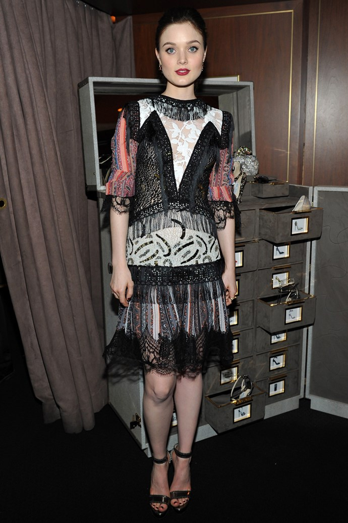 Bella Heathcote in Rodarte