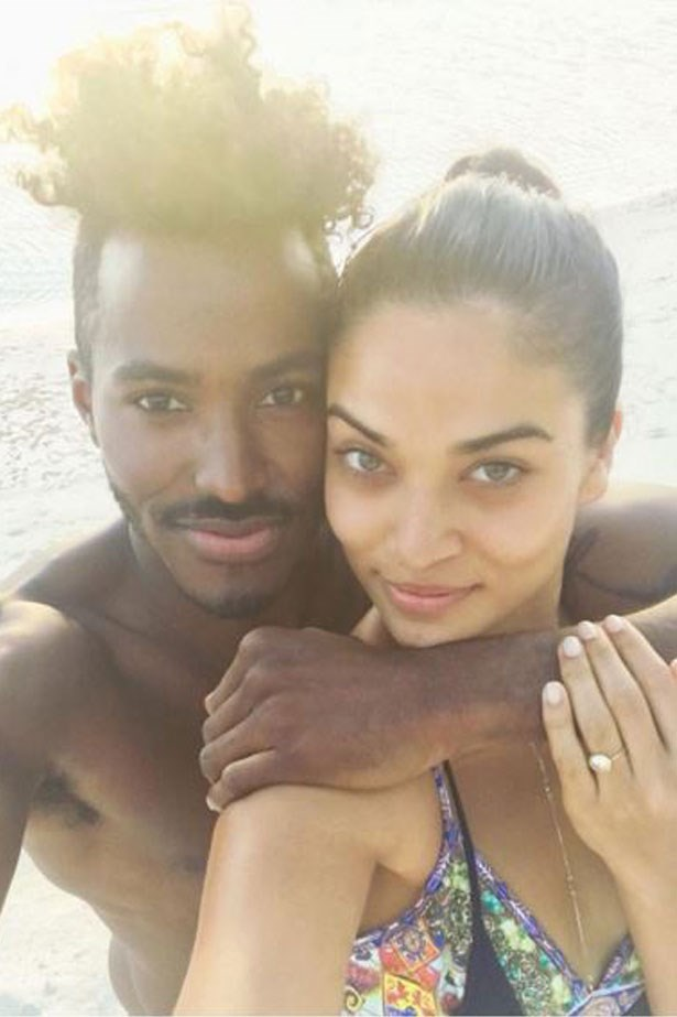 <strong>Shanina Shaik and DJ Ruckus</strong> <br><br> Shanina took to Instagram to share the exciting news in January, whilst on holiday in The Maldives with her new fiancé.