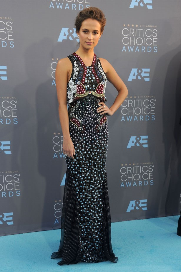 Alicia Vikander at the 21st Annual Critics' Choice Awards, January 2016