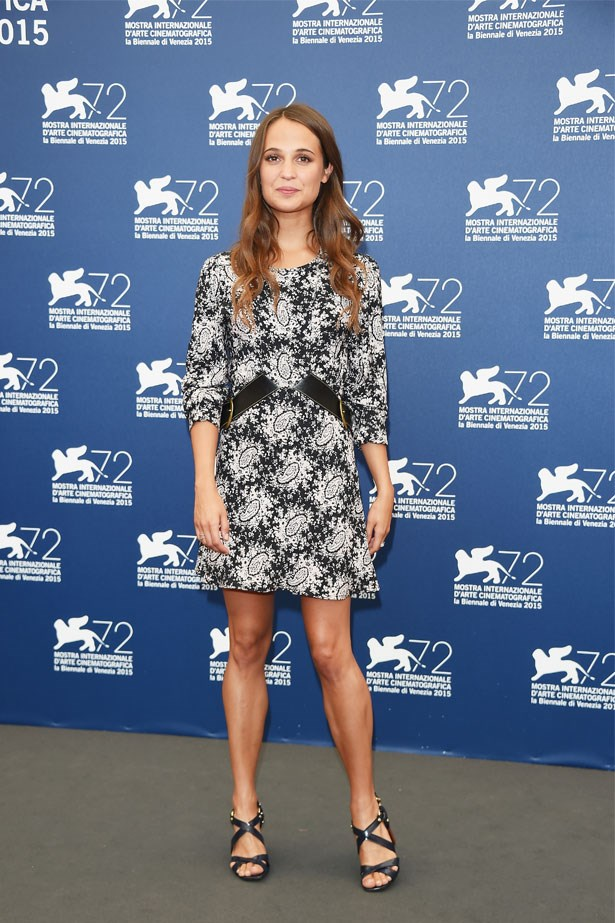 Alicia Vikander attends a photocall for <em>The Danish Girl</em> during the 72nd Venice Film Festival, September 2015