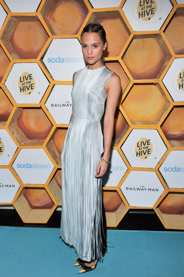 Alicia Vikander attends <em>The Railway Man</em> presented by Sodastream, September 2013