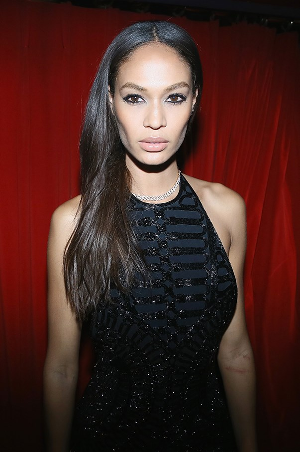 <strong>March 2016</strong> <br><br>Smalls rocks a nude lip and kohl rimmed eyes for a heavy dramatic look at the <strong>Balmain: Aftershow Party</strong> as part of Paris Fashion Week.