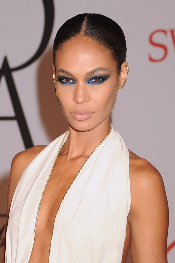<strong>June 2015 </strong> <br><br>Smalls makes the point for switching up a neutral smokey eye with this navy rendition at the CFDA Fashion Awards in New York.
