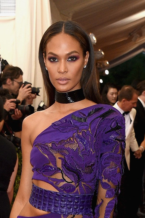 <strong>May 2015</strong> <br><br>Smalls lets her dress do the talking with a classic smoky eye and nude lip combo at fashion's night of nights.