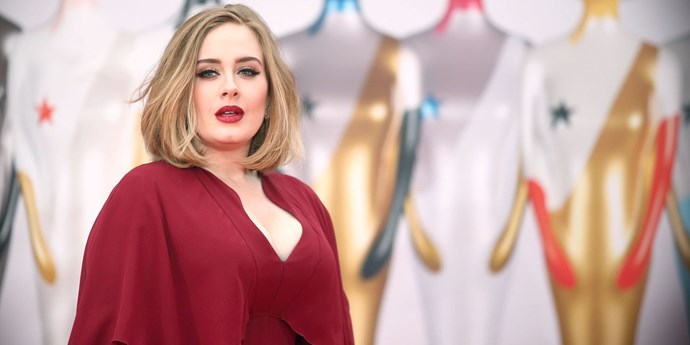 Adele at the 2016 BRIT Awards.