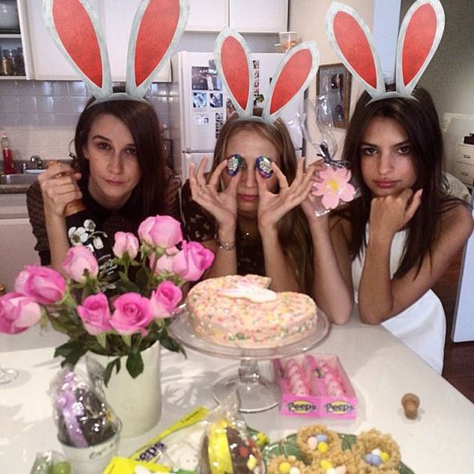 """<a href=""""https://www.instagram.com/p/nBnmHoy2W3/?taken-by=emrata&hl=en"""">""""Easter wenches""""</a> <br><br> The Easter long weekend is just around the corner, so get your bunny ears and chocolate at the ready, and let Em Rata be your Easter muse."""