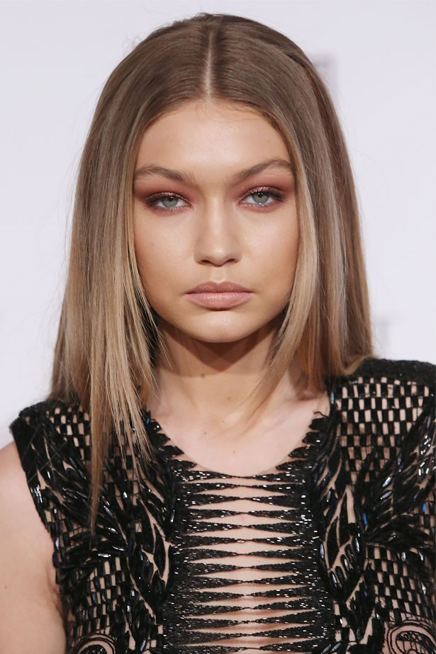 <strong>February 16, 2016</strong> <br><br> Gigi reigns in this edgy look with a soft lip.