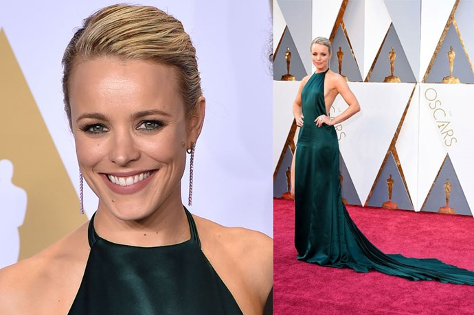<strong>Rachel McAdams</strong> <br><br> Rachel's emerald hue was a winner at this year's Academy Awards.