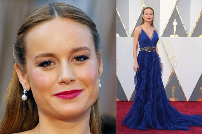 <strong>Brie Larson</strong> <br><br> Brie's subtle blue was a chic tie-in with her Oscar's gown.