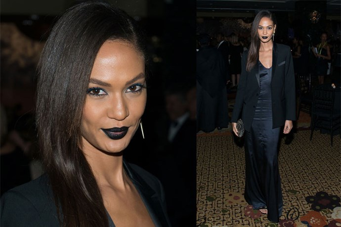 <strong>Joan Smalls</strong> <br><br> For those unafraid of a moodier look, let Smalls be your muse.