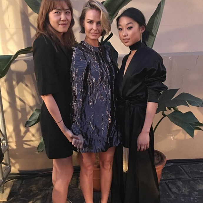 With artist Vicki Lee and photographer Margaret Zhang at the 2015 <em>ELLE </em>Style Awards.