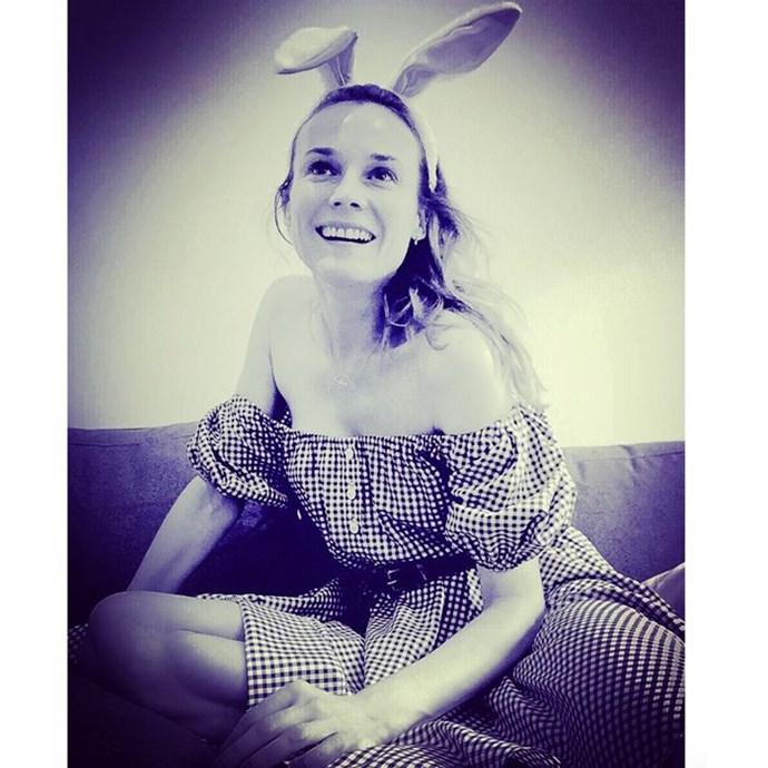 "Diane Kruger: ""Happy Easter my little bunnies""."