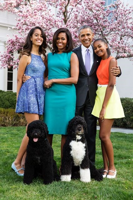 """The Obamas: """"From my family to yours, Happy Easter, and we wish everyone celebrating a blessed and joyful day"""" —President Obama on Twitter this morning"""