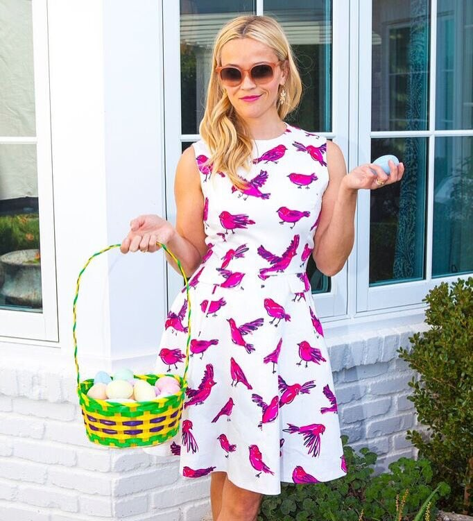 """Reese Witherspoon: """"Wishing y'all a happy, colorful, family-filled Easter Sunday!!"""""""