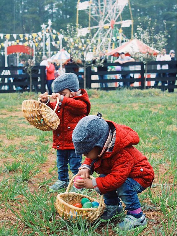 """Zoe Saldana: """"Happy Easter everyone! #easteregghunt #twinning #family ---- #felizpascua #gemelos #familia ---- #buonapasqua #gemeli #famiglia""""."""