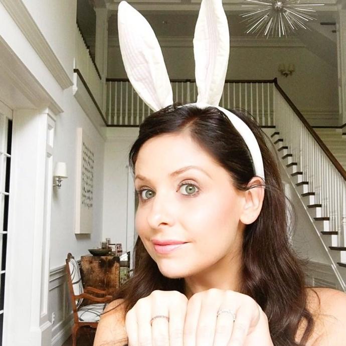 "Sarah Michelle Gellar: ""Hoppy #easter 🐰🐰🐰 #bunny""."