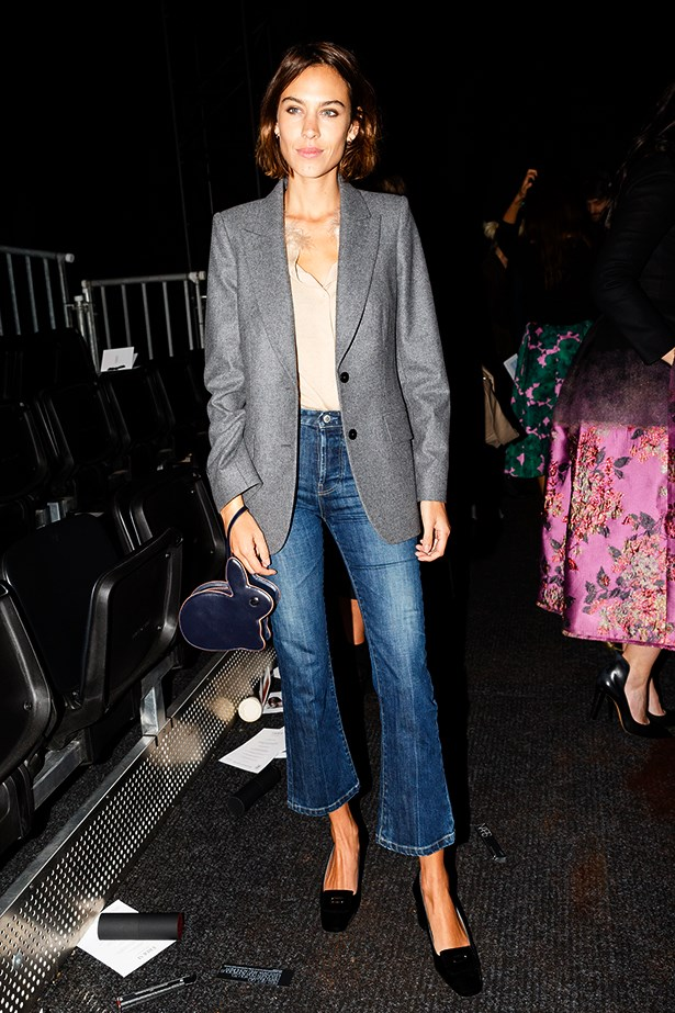 "<strong>Alexa Chung</strong><br> ""She didn't collaborate on a denim line with AG Jeans for nothing! Alexa Chung just wears it so well. I love how she's been wearing a cropped flare lately – I want a pair."" —Dee Jenner, style editor"