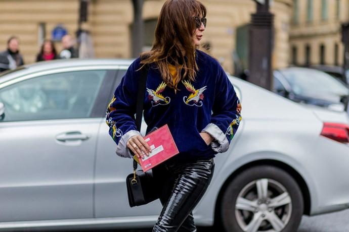 Street style bomber jacket