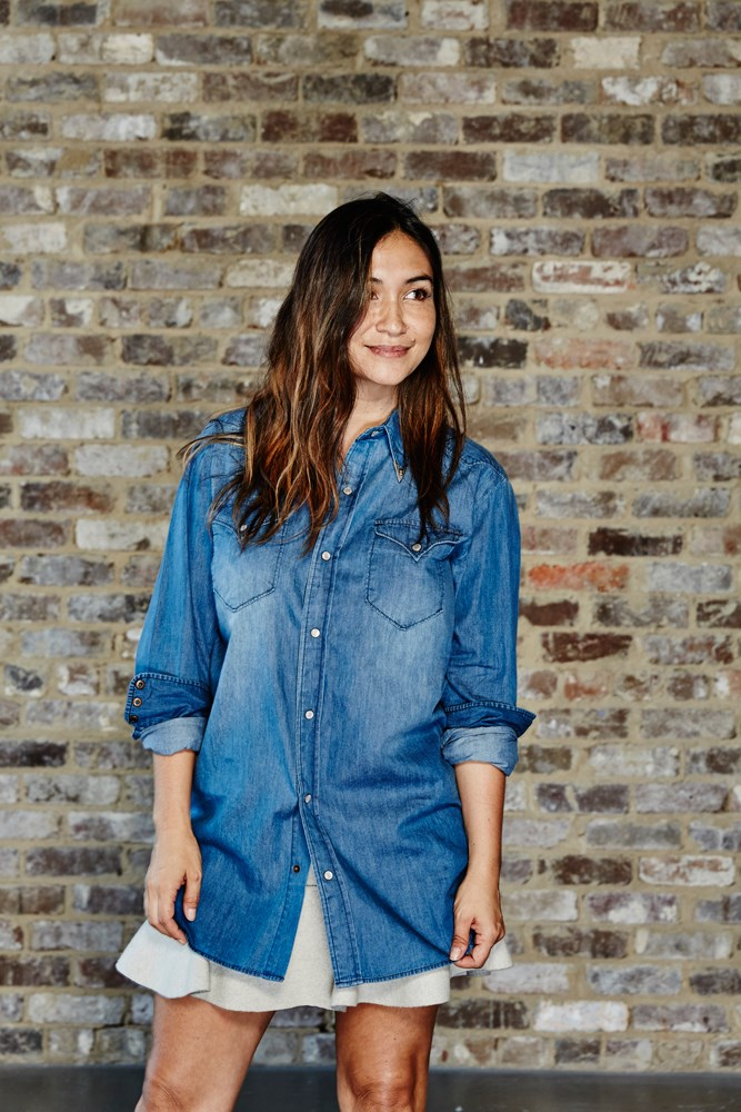 "<strong>Justine Cullen, editor-in-chief </strong><br><em>Boyfriend denim shirt from One By One Teaspoon</em><br> ""There's no item that gets more play in my wardrobe than a boyfriend shirt in super-soft denim—with jeans, a skirt, shorts, anything. I love this one as it already feels worn-in and the collar tips give it a little edge."""