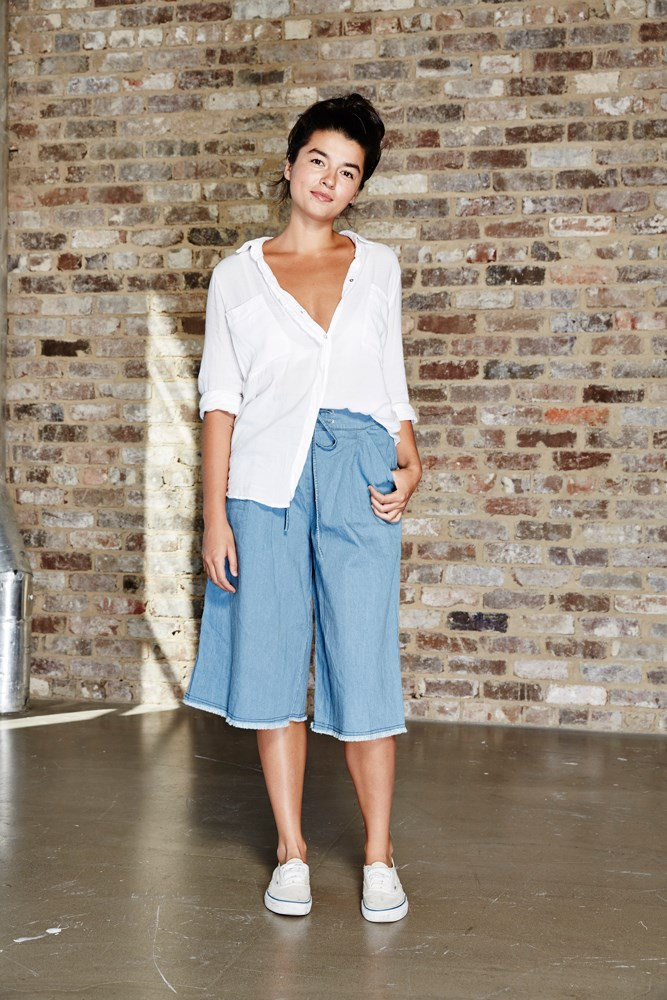"<strong>Lauren Barge, syndication and bookings manager</strong><br> <em>Culottes by Nice Martin </em><br> ""Culottes have always been a go-to of mine. Not only is Nice Martin my absolute favourite brand at the moment, but these culottes are super-comfy and look chic for every occasion."""