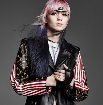 Grimes photographed by K.S courtesy of Louis Vuitton.