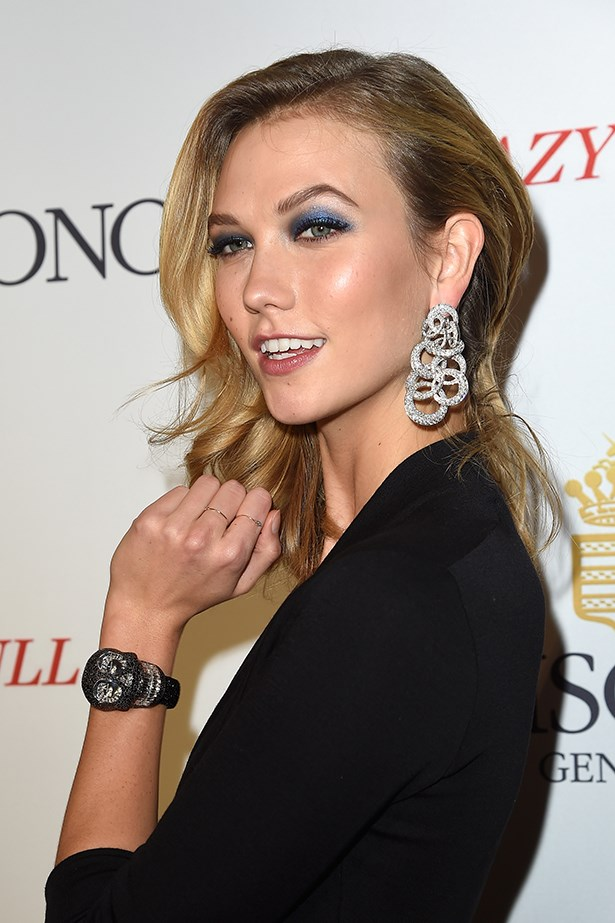 2014, A smoky take on this season's blue-eyed trend at the <em>launch of the De Grisogono Crazy Skull.</em>