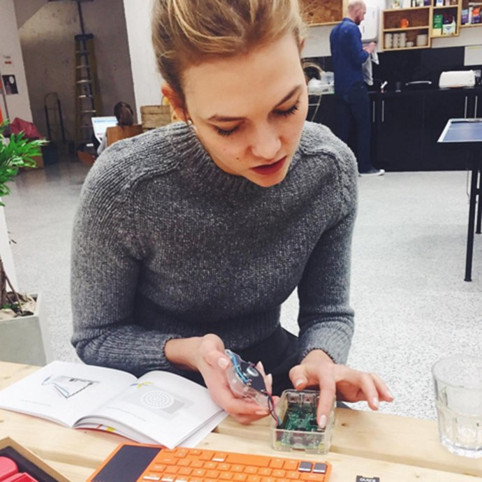 "Not only does she study computer coding, she runs a scholarship program called <a href=""https://precollege.flatironschool.com/kode-with-karlie"">Kode With Karlie</a>, through which 21 young women have so far been able to study coding at New York's Flatiron School"