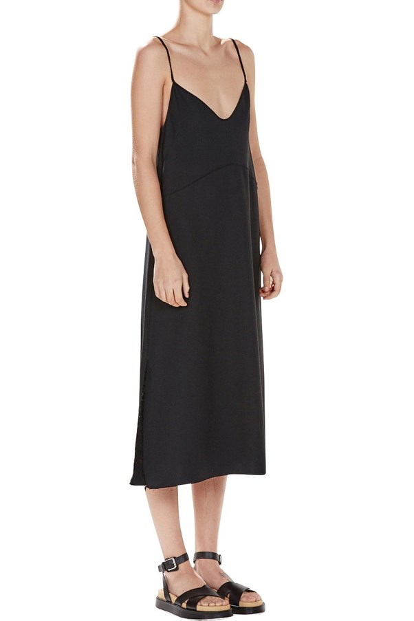 "<a href=""http://shop.davidjones.com.au/djs/ProductDisplay?catalogId=10051&productId=7608501&langId=-1&storeId=10051"">Bassike Crepe Raw Slip Dress</a>, $420."