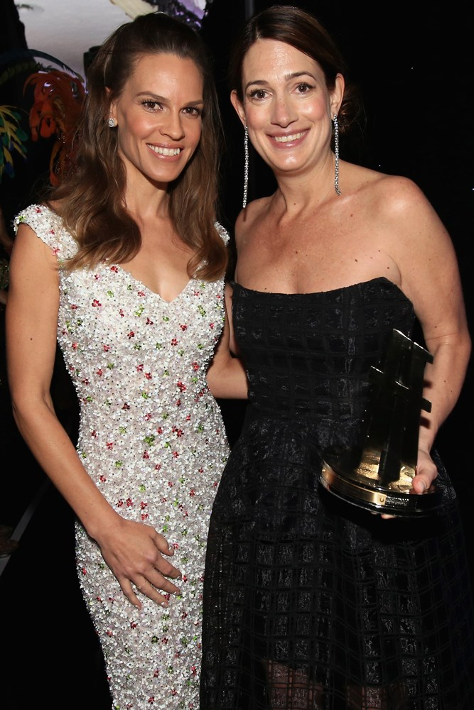 Hilary Swank and Gillian Flynn