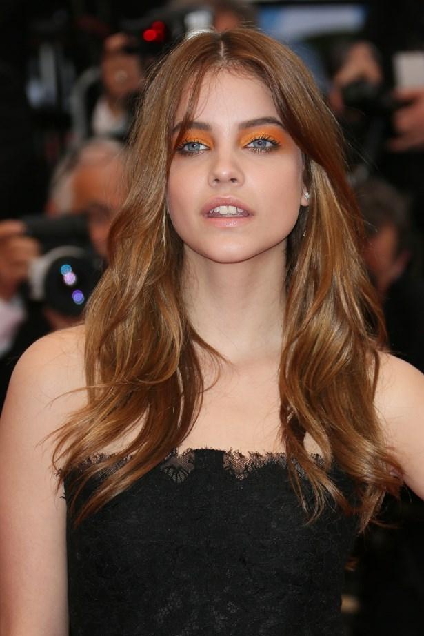 Barbara Pavlin took on orange eyeshadow at last year's Cannes film festival with great aplomb.