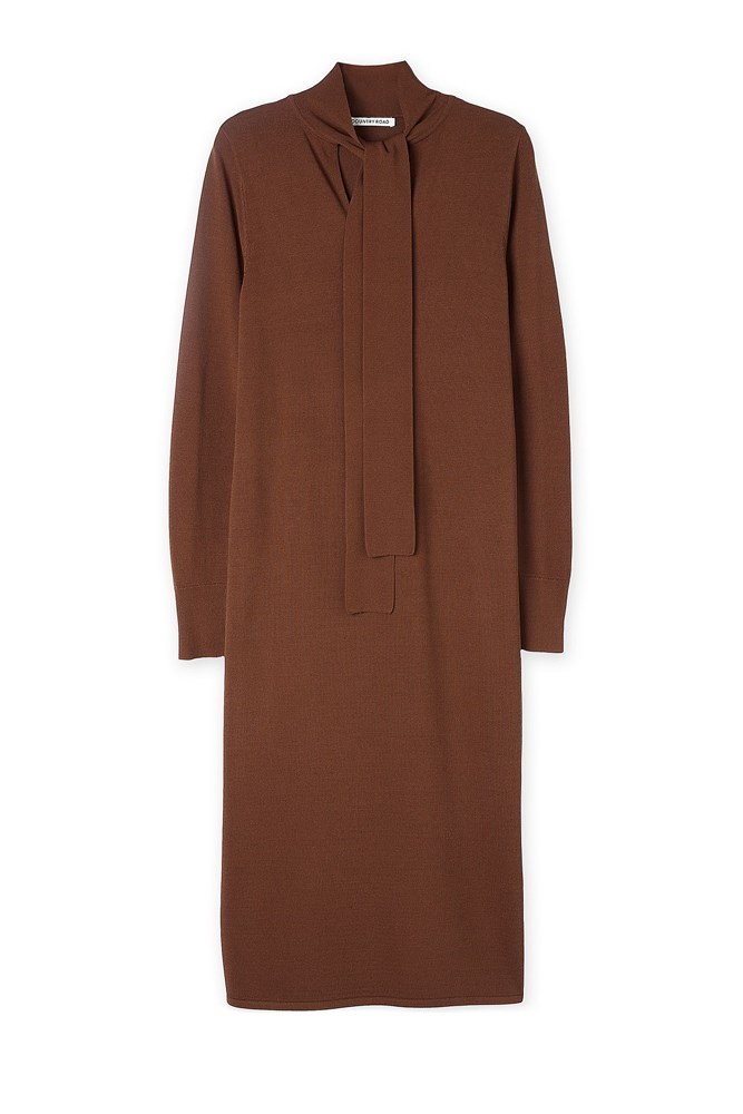 """<a href=""""http://www.countryroad.com.au/shop/woman/clothing/dresses/tie-neck-maxi-dress-60194067"""">Dress, $149, Country Road</a>"""