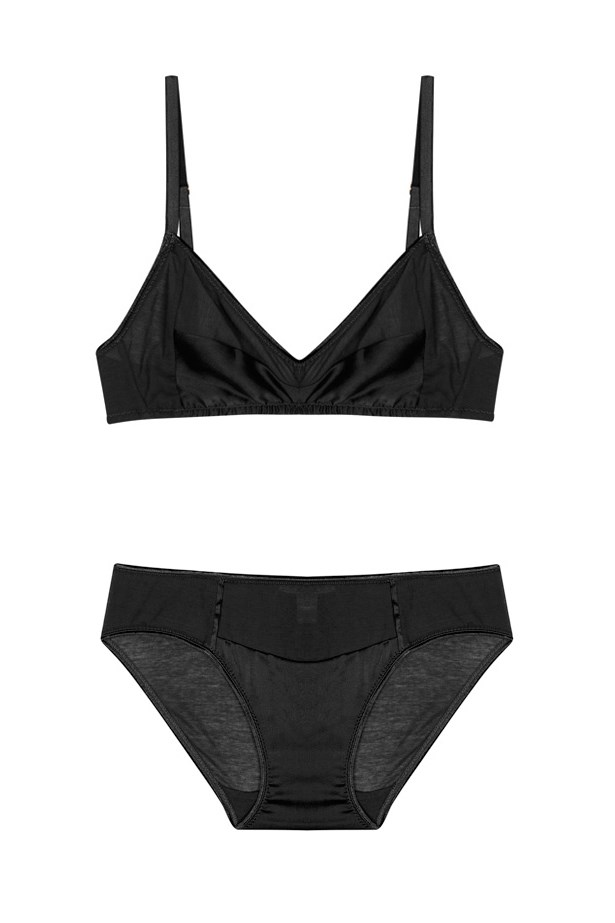 "<a href=""https://www.mychameleon.com.au/harmoni-bikini-top-p-3088.html?typemf="">Bra</a>, $150, <a href=""https://www.mychameleon.com.au/liselott-panty-black-p-3950.html?typemf="">Briefs</a>, $100, Araks, at mychameleon.com.au"