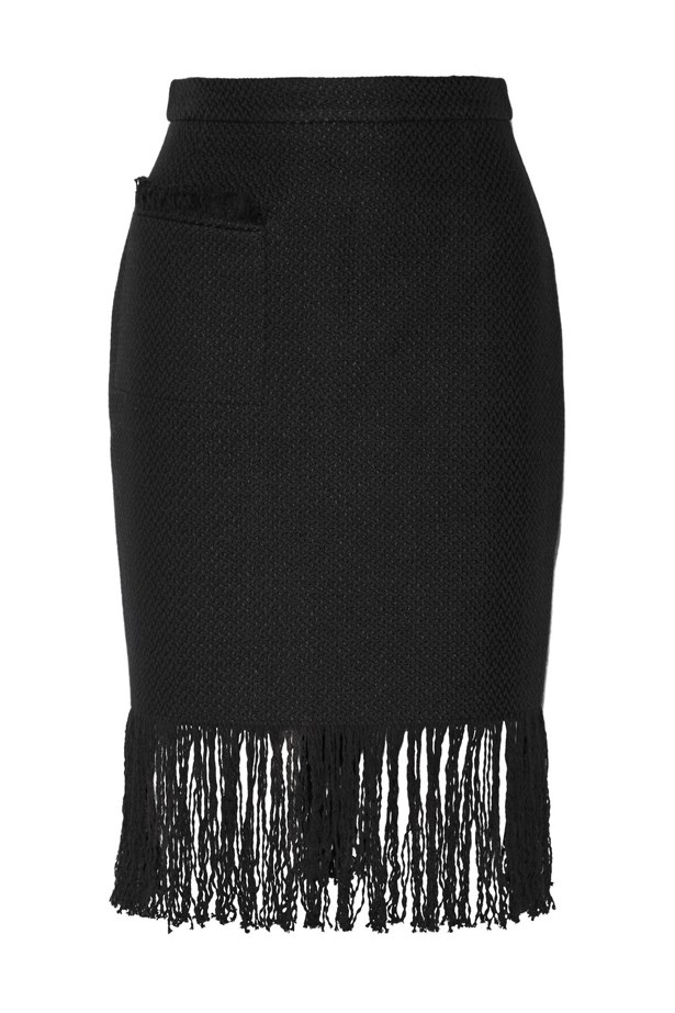 "<a href=""https://www.net-a-porter.com/au/en/product/640666/Adam_Lippes/fringed-linen-and-cotton-blend-tweed-skirt"">Fringed linen and cotton-blend tweed skirt, $1717, Adam Lippes at net-a-porter.com</a>"