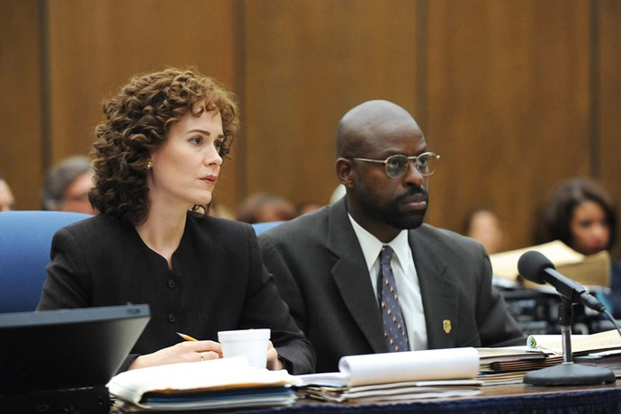 "<i><b>The People v. O.J. Simpson: American Crime Story</b></i><br> ""I remember watching the Bronco chase on TV at my grandparents' house and bits of the trial (""If the glove don't fit, you must acquit"") but there is so much more to the case and the acting is amazing. Even though you know how it ends, it's a fascinating and entertaining deep dive into the story."" - <em>Janna Johnson O'Toole, beauty and fitness director</em>"