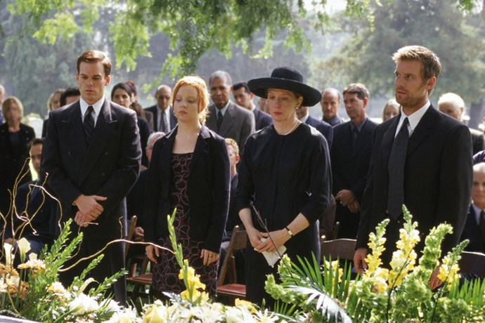 <i><b>Six Feet Under</b></i><br> I remember Mum watching it when I was a teenager and thinking WTH is this show about dead people, but it's actually amazing. It's a family drama-slash-black comedy about the Fishers, who run a funeral home. I'm only up to episode nine of season one and I am already so deeply invested in these peoples' lives, it's disturbing. <em>Friday Night Lights</em>-levels of good. - <em>Laura Collins, features and culture editor</em>