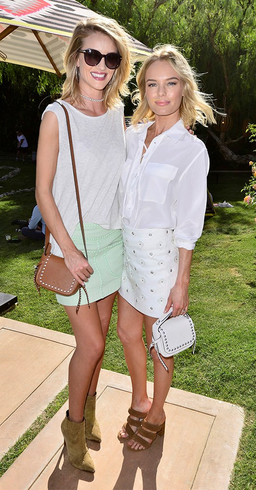 Rosie Huntington-Whiteley and Kate Bosworth in 2015